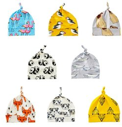Wholesale Beanie Babies Headwear - Baby Winter Hats Dinosaur Flamingo Skull Caps Girls Animal Print Turban Kids Fashion Toddler Beanie Xmas Headwear 8 design KKA2410