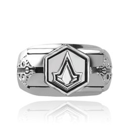 Wholesale Nail Signs - 2016 retro Assassins Creed sign finger rings band nail rings for men women Christmas gift fashion jewelry 080147