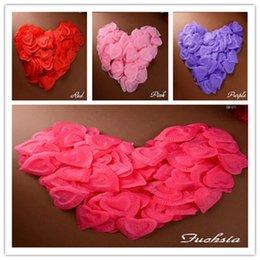 """Wholesale I Love Pink Set - boda 144Pcs set Group """" I Love you"""" Heart Artificial Petal For Wedding Arrangement Bridal Bouquet Party Decoration mariage"""