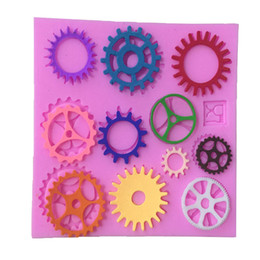 shaped gear Promo Codes - Wholesale- 1pcs Gears Shape Cake Mold, Cake Mould Fondant Cookie Baking Chocolate Mold Cake Decorating Tools,Kitchen Tools Free Shipping