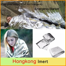 Wholesale Wholesale Military Tents - New Cold-proof Military First Aid Blankets Survival Rescue Curtain Outdoor Emergency Blankets Camping Life-saving Tent Reusable 130*210cm