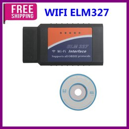 Wholesale Obd2 Adapter For Iphone - Free Shipping!WIFI ELM327 Wireless OBD2 Auto Scanner Adapter Scan Tool For iPhone iPad iPod Best Quality