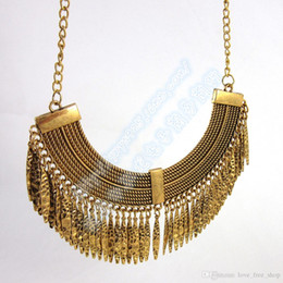 Wholesale Foreign Money - European Foreign Trade Original Single Ornaments Exaggeration Restore Ancient Ways More Chain Drip Temperament Tassels Woman Short Money