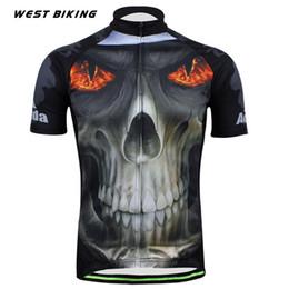 Wholesale Reflective Fire - Original Brand Men MTB Bicicleta Clothing Ropa Ciclismo Maillot Fire Eye Skull Raod Bicycle Shirt Mountain Bike Cycling Jersey
