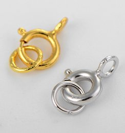 Wholesale Diy 5mm Gold Plated - S925 Silver Clasps Gold Plated Spring Clasps Jewelry Findings High Quality DIY Needed Good Accessory Lovely 5mm