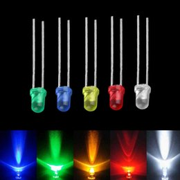 Wholesale Diode 3mm - 100pcs 3mm White Green Red Blue Yellow LED Light Bulb Emitting Diode Lamps Brand new <US$10 no tracking