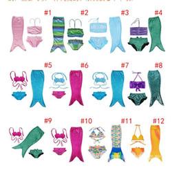 Wholesale Mixed Girls Swimsuits - Children Swimwear Mermaid Pattern Swimsuit For Kids 3 pieces Mermaid Tail Pattern Swimwear