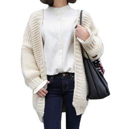 Wholesale korean women clothing sweater - Wholesale- Korean sweater women fall winter long knit cardigan jacket female influx students sweaters coat jumper clothing vestidos LXJ372