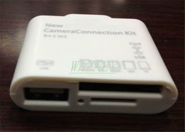 Wholesale Mini Ipad Usb Connection - 8 Pin USB 5 in 1 Camera Connection Kit SD TF Card Reader Adapter For iPad air 2 pro IPAD MINI 2 4*100pcs lot