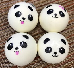 Wholesale Rare Mobile Phone - 3D Kawaii Squishy Rare Jumbo Squishies Panda Bread for Keys Phone Strap Mobile Phone Charm Toys Pendant Keychains Cell Phone Accessories Toy