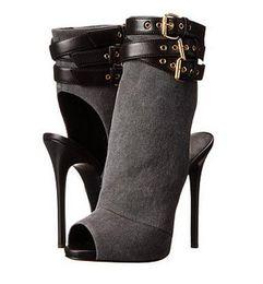 2019 botas adornadas Súper ventas de gamuza cuero peep toe sandalias botas triple correa hebilla tobillo tacones altos embellecido mujeres botas bombas zapatos botas adornadas baratos
