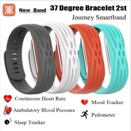 Wholesale 2nd Sleep - Heart Rate Blood Pressure Smart band 37 Degree 2nd Journey IOS Android Wristband Fitness Tracker IP67 Waterproof Smart Bracelet