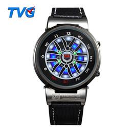 Reloj de la marca tvg online-TVG Brand Reloj para hombre Fashion Blue Binary LED Pointer Watch 30AM Waterproof Relojes horas Deportes Relojes de pulsera