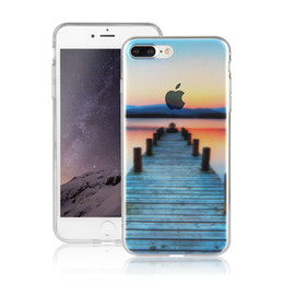 Wholesale View Landscape - Soft Landscape Scenery View TPU Rubber Transparent Case Cover for iPhone 7 7G Plus 6 5 Sony Z5 Tower Tree Snow Mountain Bridge