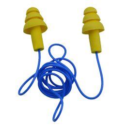Wholesale Used Ear Plugs - Christmas Tree Foam Band Line Silicone Ear Plug Continued Use Ear Protective Earplug