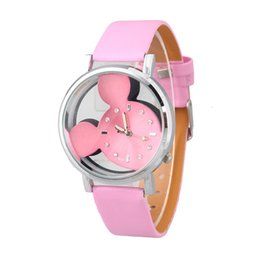 Wholesale Europe Watches - The new 2016 hot style in Europe and the wind watch of wrist of men and women fashion watches mickey head LvKong quartz watches wholesale