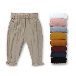 Wholesale Cheap Brand Clothes For Kids - cotton sweet baby girl lantern pants summer fashion trousers for kids girl boutique bottoms high quality cheap kids clothes wholesale