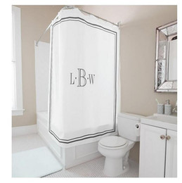 Wholesale Letters Shower Curtain - Customs 36 48 60 66 72 (W) x 72 (H) Inch Shower Curtain Letters Theme LBW Letter Waterproof Polyester Fabric DIY Shower Curtain