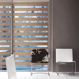 Коричневые зебры онлайн-Заказ тени полупрозрачные рулонные шторы Зебра в коричневый занавес для гостиной 10 цветов доступны G03-005