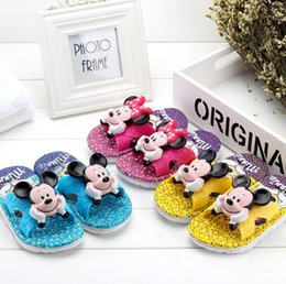 Wholesale Wholesale Flats Shoes For Kids - children shoes kids slippers mickey slippers boy girl cartoon slippers 7 colors for choose 8 pairs l