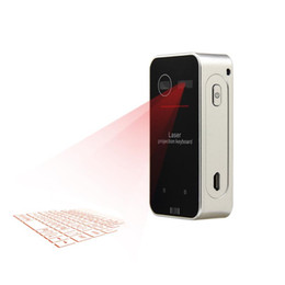Wholesale Laser Projection Keyboard For Laptops - Bluetooth Laser Projection Keyboard Virtual Keyboard for Smartphone PC Tablet Laptop Computer English QWERTY Laser Keyboard