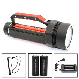 Wholesale Underwater Hunting - KC Fire Dive Lamp 4 X CREE XM-L2 LED Diving Flashlight 4800 Lumen Powerful 100M Underwater Torch Light DL0022B