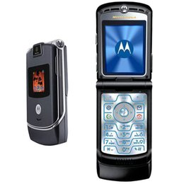 Wholesale MOTOROLA RAZR V3 Mobile Phone G GSM Quad Band Inch Screen MP Camera Single Sim Factory Unlocked