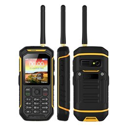Wholesale Uhf Mobile Radios - Cheap Walkie Talkie PTT dual sim Cell Phone Alps X6 IP68 Waterproof rugged UHF 2.4Inch 2500mAh Mobile phone