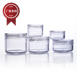Wholesale Small Container Wholesalers - 3g 5g 10g 15g 20g plastic jars small round cream bottle jars plastic cosmetic container free shipping