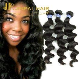 "Wholesale Malaysian 24 - DHL Free Shipping 3Pcs Lots 8""-24"" JP Hair Products Malaysian Virgin Hair Loose Wave 100% Unprocessed Human Hair Weaves Wavy"