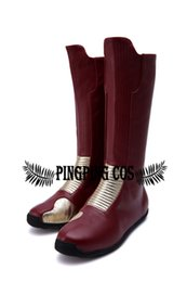 Wholesale Flash Boots - Wholesale-Super Hero Flash Barry Allen Cosplay Custom Boots(Free Shipping).