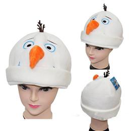 Wholesale Snow Hats - New snow Queen snowman dolls hats cartoon plush Winter Hats Warm snowman Caps for Christmas gift C3024