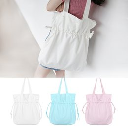 Wholesale plastic bags for shopping - Lady Single Shoulder Bag Fashion Simple Style Shopping Storage Bags Portable For Multi Color 9 5xx C R
