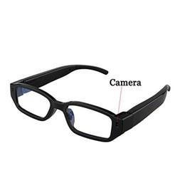 Wholesale Hidden Mini Sunglasses Spy - HD 720P Mini Spy Hidden Glasses Camera Spy Eyewear Camera Video Recoder Portable Security Camcorder Mini Sunglasses DVR Candid Camera