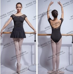 Wholesale Dancewear Free Shipping - Wholesale-Free shipping Lace fashion Black whosale M-XLSexy Dancewear Ballet Leotard gymnastics Exercise girl dance new clothes gym adult