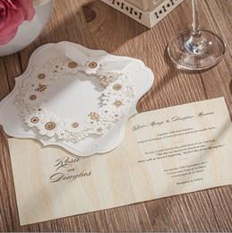 2016 Top VENDA Floral Impresso Personalizado Convites De Casamento Cartões de Pessoal Personalizado Cartões de Fornecedores de Casamento Cartões de Convite de Casamento Formal de
