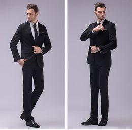 Wholesale Tuxedo Suits Colors - New Arrival Groomsmen Center Vent Slim Fit Groom Tuxedos Notch Lapel Men's Suit 12 Colors Best Man Wedding Dinner Suits (Jacket+Pants) J867