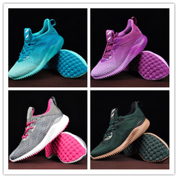 Wholesale Alpha Red - 2017 New Arrival Top Quality Women Men Alpha Bounce Boost 330 Running Shoes Black Gold Blue Alphabounce comfortable Sport Sneakers EUR 36-45