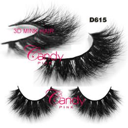 Пакеты для волос онлайн-D615 нестандартная упаковка коробка приватный логотип Бесплатная доставка в наличии 100% натуральная сибирская норка ручной работы полосы волос ресницы 3d норковые ресницы