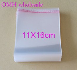 Wholesale Clear Jewelry Stickers - 200pcs 11x16cm OPP stickers self adhesive transparent clear PP plastic bags for Jewelry display packaging PJ369-5