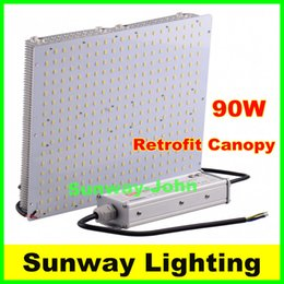 Wholesale Ceiling Lamp Outdoor - 300x300mm LED canopy lights 90W high brightness outdoor canopy light led ceiling lamps 100-277V CE UL
