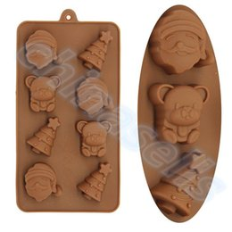 Wholesale Christmas Tree Jelly Mould - Food-grade Silicone Santa Claus Christmas tree Decoration Ice Cube Ice Box Chocolate Molds Jelly cup Mold Candy Cake Mould Bakeware
