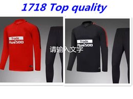 Wholesale F 18 - TOP QUALITY 17 18 Atletico Madrid jacket Training suit kits soccer Jersey GRIEZMANN F TORRES KOKE SAUL CARRASCO Madrid football shirts