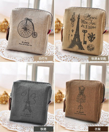 Wholesale Handbags Mixed - NEW Vintage canvas Coin purse key holder wallet hasp small Christmas gifts bag clutch handbag 4 style mix