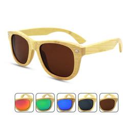 Wholesale Handmade Wooden Frame - High Quality Beach Wood Sunglasses Polarized Women& Men Vintage Handmade Bamboo Steampunk Brand Designer Cycling Sports Sunglasses Y250