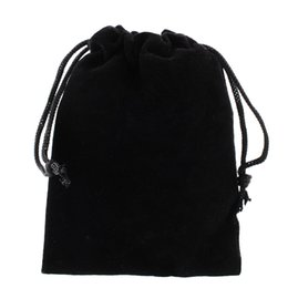 Wholesale Jewelry Boxes Favors - Jewelry Bracelet Necklace 8x10cm Pouches Velvet Gift Bags Wedding Favors Drop Black Red