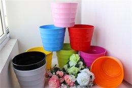 Wholesale Large Flowers Pots - succulents pots Decorative fashion Simple colorful plastic flower pots planters succulent plant potted on the desk home decoration wholesale
