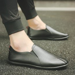Wholesale England Shoes Men - 2017 New Brand Fashion Hot Sales Spring Autumn PU Leather Shoes Men Males Leisure Casual Shoes England Stylish Lofers Solid van