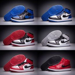 Wholesale Boys Kids Boots Size 12 - Wholesale Basketball Shoes Men Retro 1 I Sneakers Boots Authentic 2016 New J1S Outdoor High Cut Sports Kids Shoes Size 40-47
