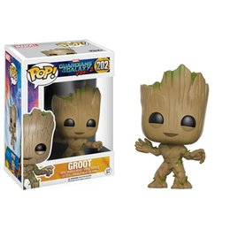 Wholesale Finish Model - FUNKO POP Groot Guardians of the Galaxy Groot Vinyl Action Figure collectible model toys funko pop figures